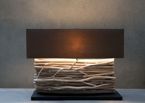 Driftwood table lamp, €250 by Paul Costelloe Living at Dunnes Stores