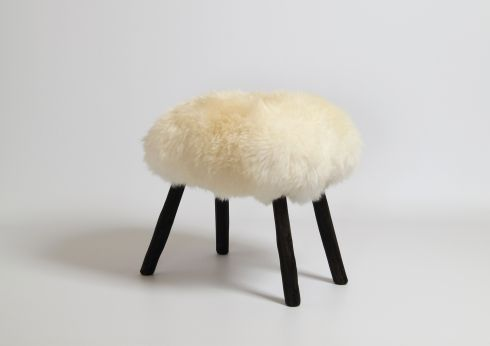 Sheepskin stool, €295 by James Carroll at Brown Thomas