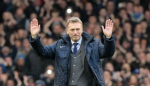 David Moyes: Farewell to Goddison. Photograph: Getty Images