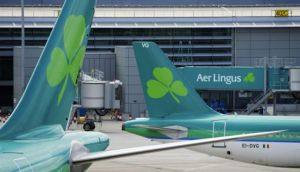 Aer Lingus shares climbed 3.5 per cent in Dublin yesterday