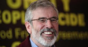 "Sinn Féin president Gerry Adams: Government ""took its eye off this most important issue"". Photograph: Peter Morrison"