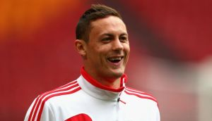 Nemanja Matic of Benfica will face his old club this evening. Photograph:  Michael Steele/Getty Images