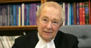 President of the High Court Mr Justice Nicholas Kearns: told yesterday a confidential agreement had been reached with FBD Insurances on a payout to retired teachers, Tom and Mary Burke, in settlement of their legal proceedings. Photograph: Alan Betson