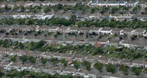 An aerial shot of housing on the northside of Dublin. Photograph: Frank Miller/The Irish Times
