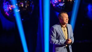 Presenter Graham Norton during the filming of the Graham Norton Show at The London Studios, south London. Photograph: Dominic Lipinski/PA Wire
