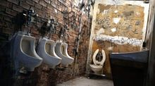 Commodified: the Metropolitan Museum of Art's re-creation of the CBGB toilets for its show Punk: Chaos to Couture. Photograph: Spencer Platt/Getty