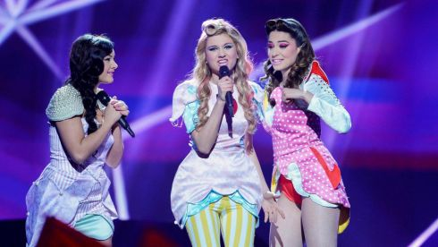 Serbia's Moje 3 performing at the Eurovision semi final last night. Photograph: Reuters