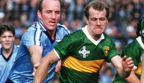 9 JACK O'SHEA - Kerry; 6 awards, 1980-85 - All class. One of those guys who never really kicked with his left leg but was so good that he was very seldom blocked down, even though the opposition knew what he was doing. He created his own kind of game and changed what was asked of midfielders.