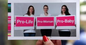Pro-Life Campaign postcard sent to members of the Oireachtas. Photograph: Joe O'Shaughnessy