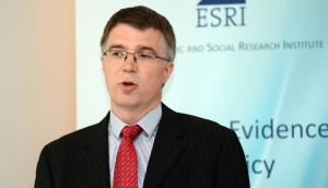 ESRI research officer David Duffy at the presentation of the institute's 'Quarterly Economic Commentary' in Dublin yesterday. Photograph: Eric Luke