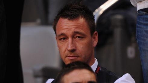 Injured John Terry watches another final from the stands.  Photograph: Michael Regan/Getty Images