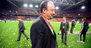 Chelsea's manager Rafael Benitez will walk away a winner. Photograph: Dylan Martinez/Reuters
