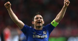 Frank Lampard has signed a one-year contract extension with Chelsea. Photograph: John Walton/PA Wire
