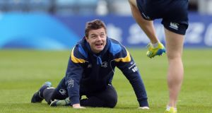 Brian O'Driscoll during the Leinster captain's run at the RDS yesterday. Photograph: Lorraine O'Sullivan/Inpho