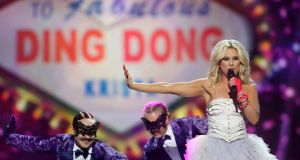 Krista Siegfrids of Finland performs on stage during the second semi final of the Eurovision Song Contest 2013 at Malmo Arena. Photograph: Ragnar Singsaas/Getty Images