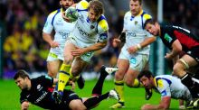 Clermont captain Aurelien Rougerie returns in midfield against Toulon in Saturday's Heineken Cup Final. Photograph: Stu Forster/Getty Images