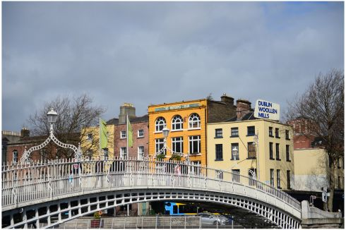 Halfpenny Bridge over the river Liffey. Photograph: Bryan O'Brien