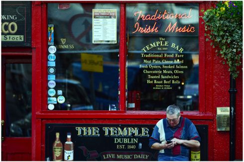 Temple Bar pub. Photograph: Bryan O'Brien