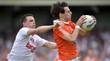 Cavan will find it hard to contain Armagh's Jamie Clarke (right). Photograph: Russell Pritchard/Presseye/Inpho