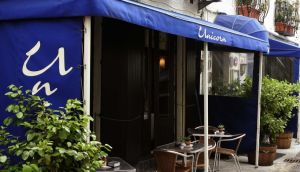 The Unicorn Restaurant on Merrio Row, Dublin. A statement on the restaurant's website said: 'circumstances have meant we have to leave and the restaurant is now closed'.