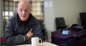 "Paul Palmer at breakfast in the Capuchin Day Centre, Bow Street, Dublin. ""In the last week I went 1,000 kilometres looking for work."" Photographer: Dara Mac Dónaill"