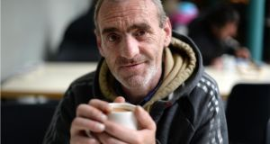 "Anthony Crowley at breakfast in the Capuchin Day Centre, Bow Street, Dublin. ""I know everyone here. I mightn't know all their names but we know each other. They've been through the wars and they've lost their illusions, but they're good people."" Photographer: Dara Mac Dónaill"