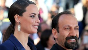 Director Asghar Farhadi (R) and cast member Berenice Bejo pose on the red carpet as they arrive for the screening of the film 'Le Passe' (The Past) in competition during the 66th Cannes Film Festival. Photograph: Jean-Paul Pelissier/Reuters