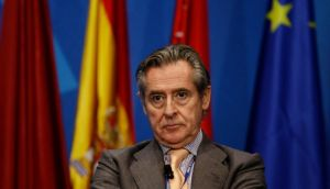 Former president of Caja Madrid Miguel Blesa is the first top financier detained in Spain since the financial crisis began. Photograph:  Reuters/Sergio Perez