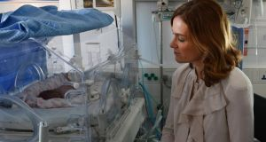 Master of the National Maternity Hospital Dr Rhona Mahony  in the neoneathal ICU department of Holles Street. Photograph: Cyril Byrne