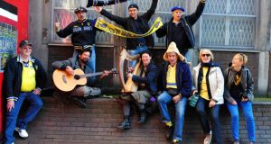 Clermont supporters in Temple Bar, Dublin, yesterday. Photograph: David Sleator