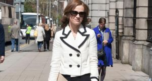 Master of the National Maternity Hospital Dr Rhona Mahony arrives for the  committee hearings on  the Heads of the Protection of Life during Pregnancy Bill 2013 at Leinster House yesterday. Photograph: Gareth Chaney/Collins