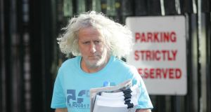 Independent Wexford TD Mick Wallace: 'unaware' of incident referred to by Minister for Justice Alan Shatter.  Photograph: Alan Betson/The Irish Times