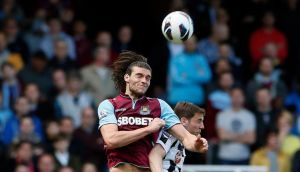 West Ham United want to agree a deal with Liverpool to sign on-loan striker Andy Carroll (left). Photograph: Stefan Wermuth/Reuters