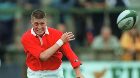 The early days. Ronan O'Gara in action for Munster in 1997. Photograph: Billy Stickland/Inpho