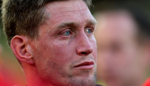 End of an era: O'Gara after defeat to Clermont Auvergne in the Heineken Cup semi-final, his last European game. Photograph: James Crombie/Inpho