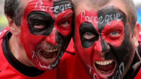 Toulon fans before the Heineken Cup final against Clermont Auvergn. Photograph: James Crombie/Inpho