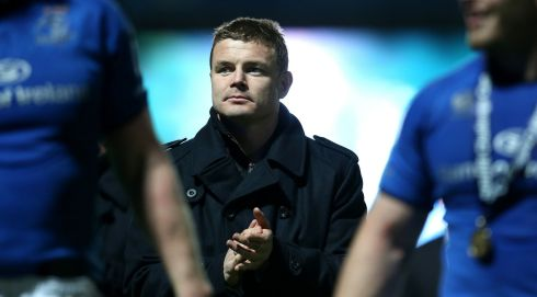 Brian O'Driscoll after the game. Photograph: James Crombie/Inpho