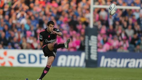 Jerome Porical of Stade Francais Paris takes a penalty kick. Photograph: Ian Walton/Getty Images