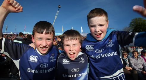 Leinster fans before the Amlin Challenge Cup Final against Stade  Francais Paris in Dublin on Friday. Photograph: Dan Sheridan/Inpho