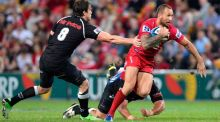 Queensland Reds outhalf Quade Cooper has been omitted from the Australia squad. Photograph: Getty Images