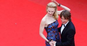 Jury member actress Nicole Kidman and her husband Keith Urban  arrive for the screening of Inside Llewyn Davis at the Cannes Film Festival yesterday. Photograph: Reuters/Yves Herman