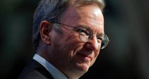 "Google executive chairman Eric Schmidt criticised British politicians for ""a confusing spectacle"" in which ""legislators are doing the lobbying and companies are articulating the law as it stands"". Photograph: Reuters/Adam Hunger"