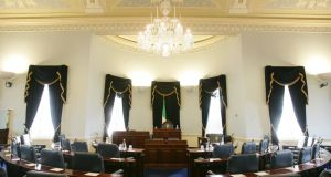 The Seanad chamber at Leinster House: the proposal by Senator David Norris at the constitution convention that it should seek to address the abolition of the Seanad lead to sharp exchanges between members