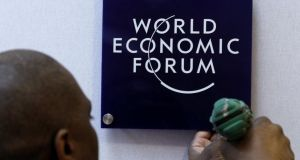 The World Economic Forum in Davos - the planet's most self-satisfied event. Photograph: Reuters/Arnd Wiegmann