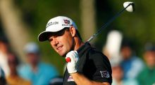 Ireland's Pádraig Harrington watches his shot from the 10th tee during the second round of The Players Championship PGA golf tournament at TPC Sawgrass in Ponte Vedra Beach, Florida, on May 10th. Photograph: Chris Keane/Reuters