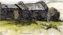 The writer's 1965 painting made while camping on Inishvickillane