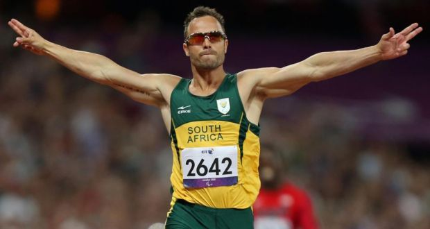 South Africa's Oscar Pistorius who is allowed to travel abroad to compete after a judge changed his bail conditions as he awaits trial for killing his girlfriend. Photograph: John Walton/PA Wire