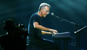 The Doors keyboardist Ray Manzarek performs on stage at the Miller Rock Thru Time in New York IN 2004. Photograph: Matthew Peyton/Getty Images