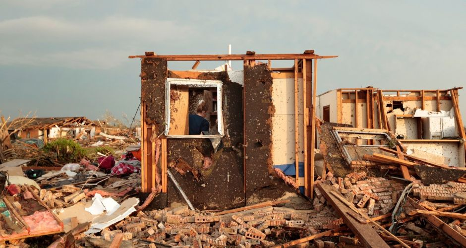 Tornado devastation in Oklahoma