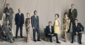 No more heroes: the cast of Mad Men, including Jon Hamm as Don Draper. Photograph: AMC